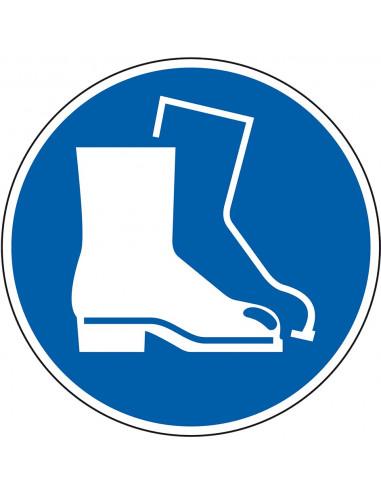 Gebodsbord 'Veiligheidsschoenen verplicht', 200 mm, ISO 7010, M008
