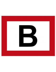Bovengrondse brandkraan 'B' sticker 150 x 200 mm