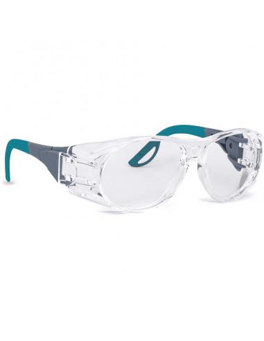 INFIELD® Schutzbrille Terminator,blau,farblose PC-Scheibe,AF-Beschichtung,35g