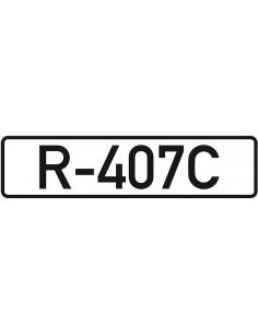 Leidingmarkeringsetiket R-407C