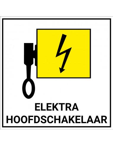 Locatieaanduiding pictogram 'Elektra hoofdschakelaar' sticker 120x120mm