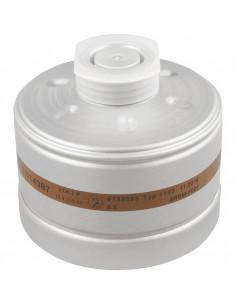 Dräger ademhalingsbeschermingfilter AX, met aluminium behuizing, voor half-/volgelaatsmaskers, 280g