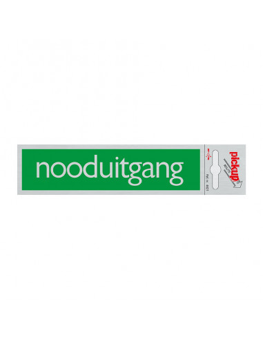Bord \'nooduitgang\' ALULOOK 165 x 45 mm
