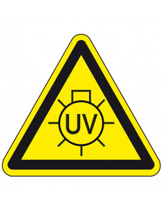 Waarschuwingsbord UV licht, dibond