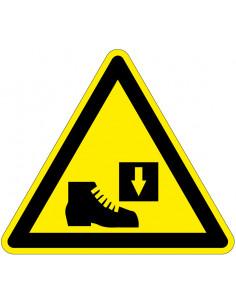 Bord 'Let op voor beklemming voeten' 200 mm, dibond