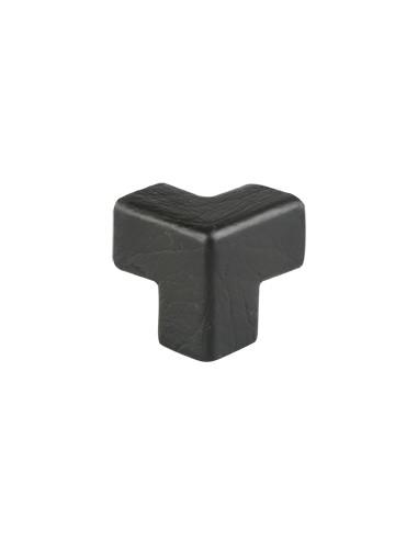 SHG hoekstuk type E, driedimensionaal, zwart, PU-schuim, zelfklevend