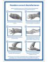 Sticker 'Handen correct desinfecteren', 180 x 120 mm