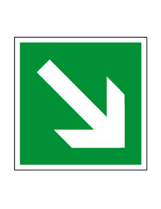 Evacuatiepictogram richtingspijl rechtsonder, bord, 200 x 200 mm