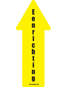 Vloersticker eenrichting pijl geel