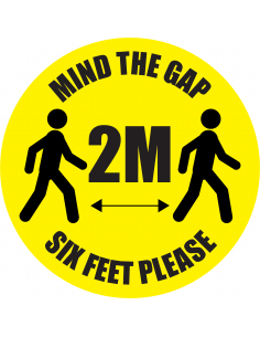 Vloersticker 'Mind the gap....