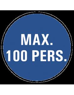 Gebodsbord 'Maximaal 100 personen' 200 mm