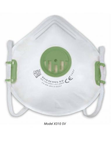 FFP3 Stofmasker met ventiel X310 SV, NR D