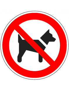 Verbodsbord 'Verboden voor honden', 200 mm, ISO 7010, P021, aluminium