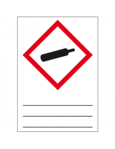 GHS 04 sticker gassen onder druk, 37 x 52 mm, beschrijfbaar