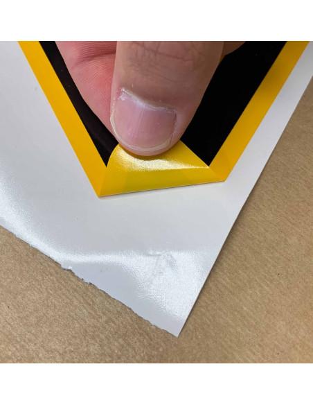 Sticker 'Waarschuwing voor laaghangende obstakels / stootgevaar', 50 mm 10/vel, ISO 7010, W020