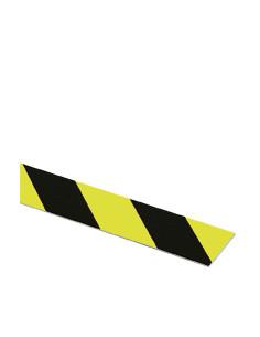 Vlakmarkering,rechts,fluorescerend geel naschijnend/zwart,aluminium