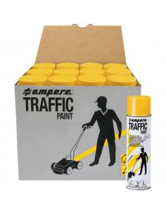 12-pack A.M.P.E.R.E. Markeerverf spray Traffic, geel