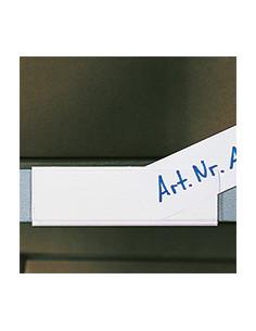 Etikettenhouders, witte achterkant, transparante voorkant, 100/VE