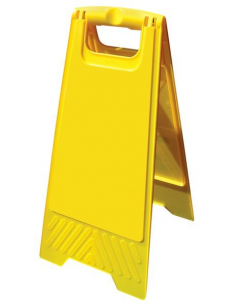 Inklapbaar waarschuwingsbord blanco, geel, a-bord zonder tekst