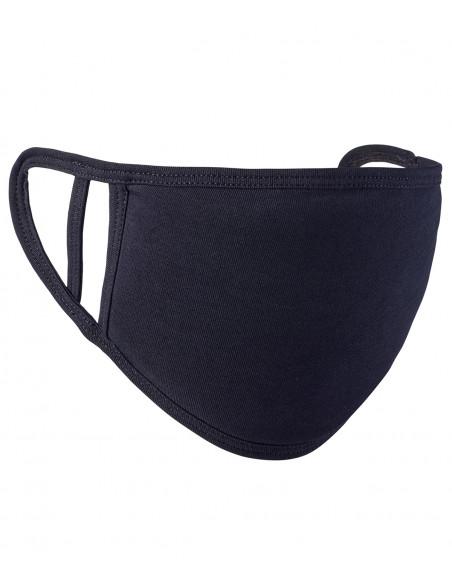 Wasbaar mondkapje, katoen, one size, per 5 stuks, zwart