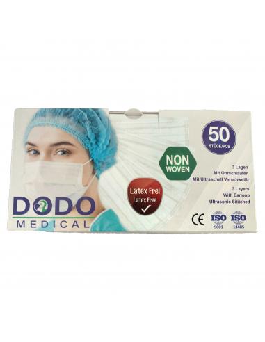 40-pack niet-medische wegwerp mondkapjes, doosjes per 50 stuks