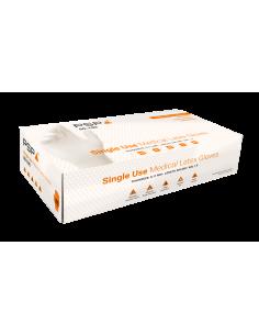 PSP 50-190 latex wegwerphandschoen, 100 per doosje, poedervrij