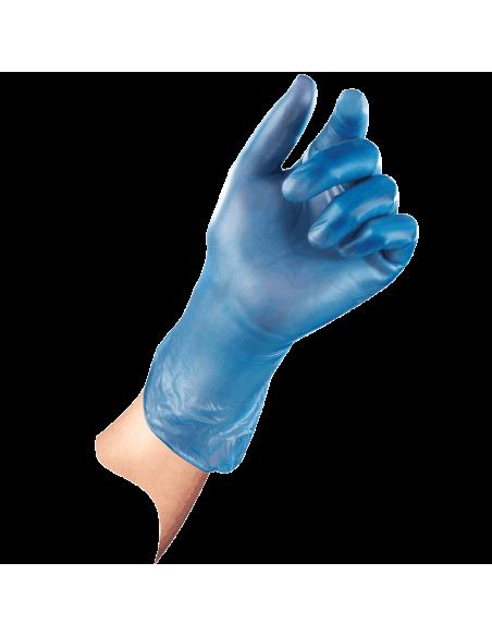 1000 stuks vinyl wegwerphandschoen SensaNyl P, gepoederd, blauw, voorbeeld hand