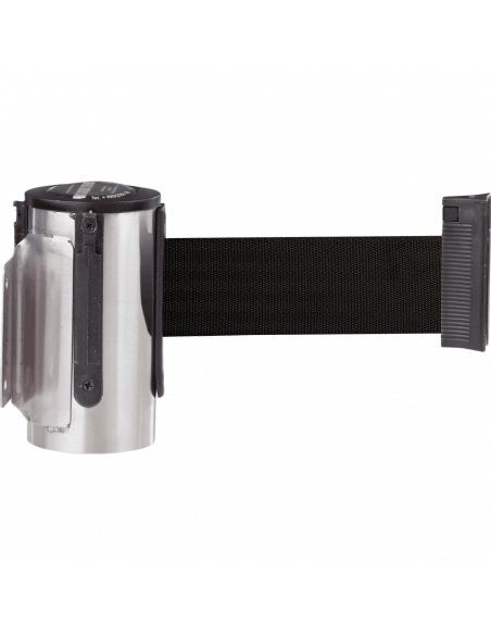 Wandcassette GLW 45, zwart, roestvrij staal