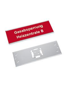Hanger voor borden en lijsten, om in te schuiven, aluminium, geanodiseerd