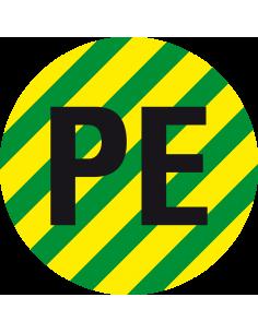 Beschermende PE geleider sticker, vel, groen geel
