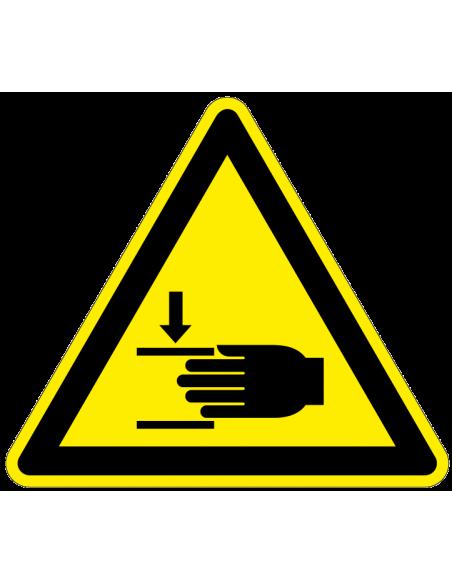 Waarschuwingssticker 'Waarschuwing voor handbeklemming' op rol, ISO 7010, W024