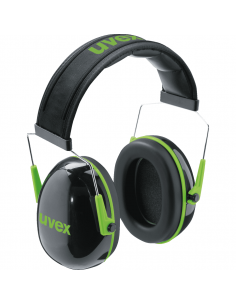 Uvex K1 oorkap, groen zwart