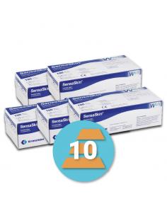 10-pack latex wegwerphandschoen SensaSkin P
