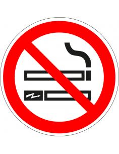 pictogram roken en e-sigaret verboden, rood wit, rond