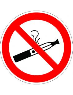 pictogram e-sigaret verboden, rood wit, rond