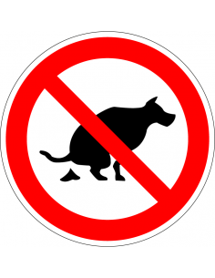 pictogram geen hondenpoep, rood wit, rond