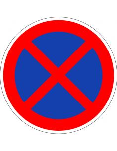 pictogram parkeren en stilstaan verboden, rood wit, rond