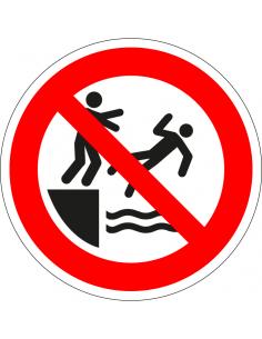 pictogram verboden in water te springen, rood wit, rond, ISO 7010, P061