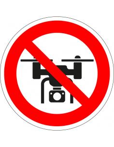 Verboden voor drones bord, kunststof, rood wit, verbodsbord