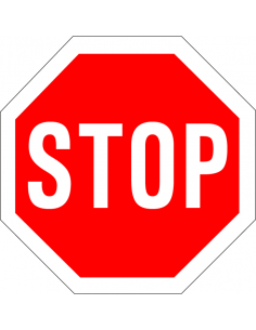 stop pictogram, rood wit, rond