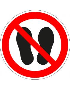 Verboden te betreden, plexiglas, P024, rood wit, betreden verboden pictogram, symbool betreden verboden, rond, ISO 7010