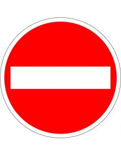 pictogram verboden in te rijden, rood wit, rond