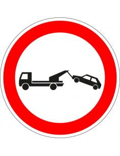 pictogram wegsleepregeling, rood wit, rond