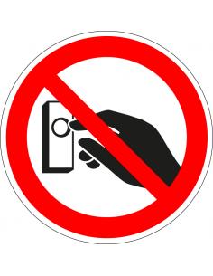 Niet aanbellen sticker, rood wit, pictogram niet aanbellen, rond
