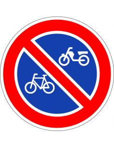 pictogram verboden fietsen en brommers te plaatsen, rood wit, rond