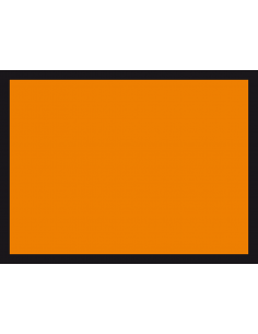 Blanco ADR gevaarlijke stoffen sticker, 3M folie, 400 x 300 mm, oranje zwart, rechthoek
