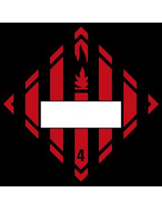 Beschrijfbare ADR klasse 4.1 sticker brandbare vaste stoffen, ruit, rood wit zwart, vlam pictogram