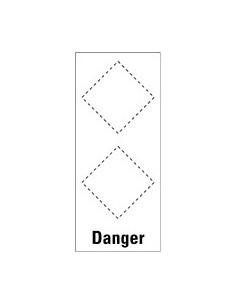 Basisetiket Danger, voor 2 GHS-pictogrammen, zelfklevende folie (sticker)
