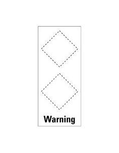 Basisetiket Warning, voor 2 GHS-pictogrammen, zelfklevende folie (sticker)