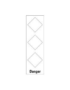 Basisetiket Danger, voor 3 GHS-pictogrammen, zelfklevende folie (sticker)